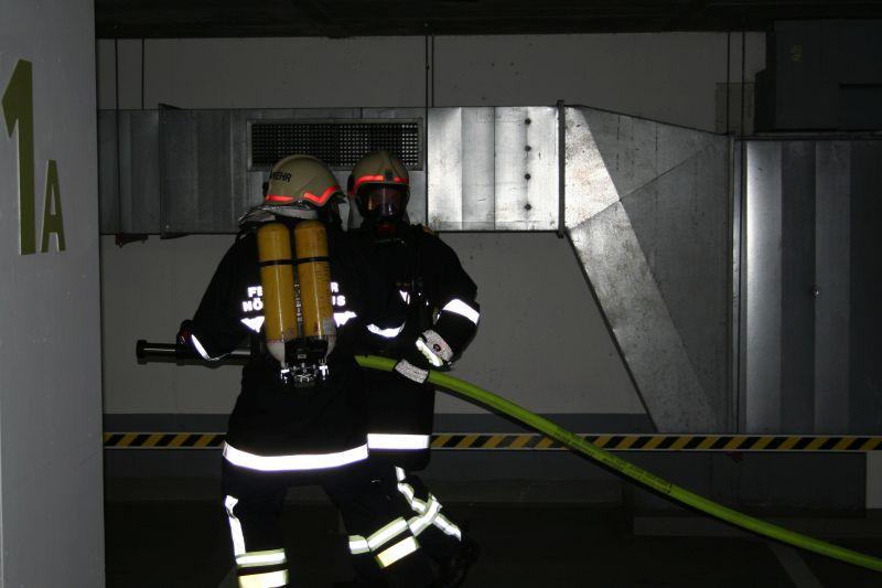 Schaumangriff in der Tiefgarage